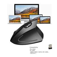 T24 Wireless Ergonomic Vertical Gaming Mouse 2400DPI Optical Mice + USB Receiver