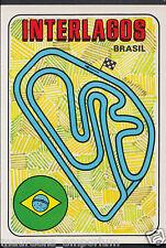 Motorsport Sticker - 1980 Panini F1 Grand Prix - No 5 - Interlagos Track, Brasil