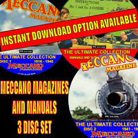 EVERY EDITION MECCANO MAGAZINE PUBLISHED + MANUALS/PLANS 3 PC DVD COLLECTION NEW