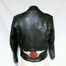 VTG Harley Davidson Leather Jacket 80's Fermin Biker Coat 70's Size 42 Large