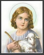 "Catholic Print Picture HOLY CHILD JESUS Good Shepherd 8x10"" ready to frame"