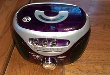 Electro brand mini radio/cassette player Purple, matte silver & black Portable