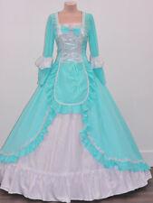 Renaissance Faire Princess Alice in Wonderland Mint Dress Theater Quality 213 L
