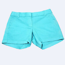 "J Crew Womens Blue Aqua 4"" Inseam Chino Shorts 2 New kg1"