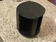Vintage Laserline 80 CD Rotating Storage Tower Carousel Black CD Holder