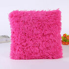 43cm Soft Plush Square Pillow Case Sofa Waist Throw Cushion Cover Home Decor New