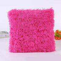 Throw Home Decoration Fur Fluffy Sofa Pillow Soft Plush Luxury Cushion Cover UK