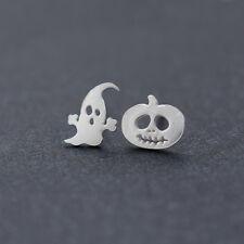 Halloween Pumpkin Little Devil Easter Ghost Asymmetrical Ear Stud Earrings