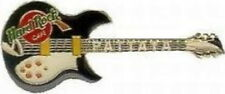 Hard Rock Cafe PATTAYA 2001 Black & White Rickenbacker 381 Guitar PIN HRC #7352