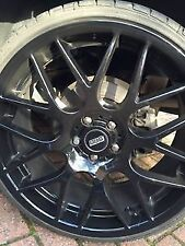 """BBS"" Custom Logo Wheel Centre Cap Sticker x4 40mm-90mm Decal VW R SEAT ST VXR"