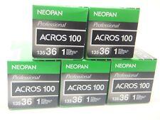 5 x FUJI NEOPAN ACROS 100 35mm 36exp CHEAP B&W Pellicola per 1st Class Royal Mail