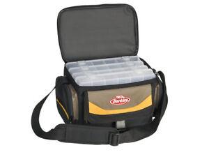 Berkley Equipment Bag With 4 Bait Boxes, Fishing Bag, Spinner, Tool Box