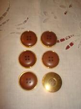 6 MAGNIFIQUES BOUTONS dorés/marrons (Haute Couture)
