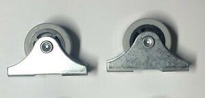 2x IKEA CASTER WHEEL FIXED 25 mm Steel Gray Fits Underbed Storage Part #111402