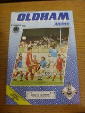 23/12/1984 Oldham Athletic v Barnsley  . Item appears to be in good condition un