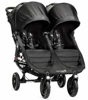 Baby Jogger City Mini GT Double Twin All Terrain Stroller Black NEW