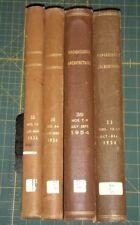1954 Jan - Dec  Progressive Architecture Magazine 12 Issues Bound  Volume 35