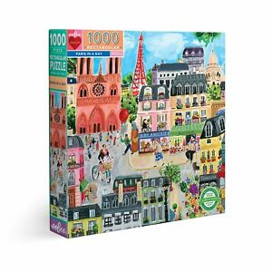 eeBoo 1000 Pc Puzzle – Paris In A Day Kids Puzzle Family Puzzle 03317