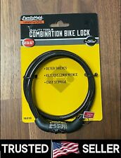 "NEW 23.5"" inches 4-Digital Bike Bicycle Code Combination Cable Lock Black Color"