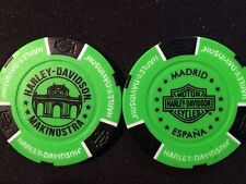 Harley Ball Marker Poker Chip (NEON Green/Black) Makinostra Madrid Espana Spain
