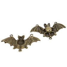 10x Vintage Bronze Alloy Bat Charms Connector Pendant Findings Fit DIY 3 Holes D