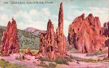 ROCKY FORD COLORADO PSTMK GARDEN OF GODS CATHERAL SPIRES POSTCARD 1908