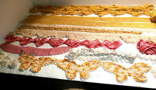 Vintage Lot Hand Made Crochet Lace 14 Pieces White Yellow Varigated Butterflies