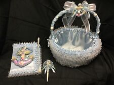Decorated Baby Shower Basket & Guest Book Set, Ocean, Nautical, Baby Boy