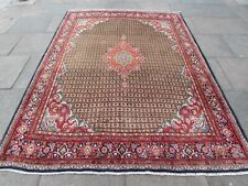 Vintage Hand Made Traditional Oriental Wool Brown Red Large Rug Carpet 280x210cm