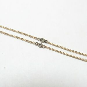 DIAMONDS BY THE YARD 14K Yellow Gold 13 Brilliant Cut Diamond Necklace 0.50 Cts
