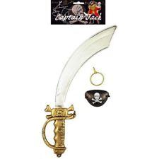 Pirate Boucle D'oreille Eyepatch & Cutlass Sword Unisexe accessoire robe fantaisie Kit