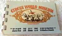 """Vintage Circus World Museum Miniature Booklet. """"Alone in Greatness"""" Illustrated!"""