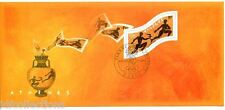 bloc feuillet souvenir N°2 de 2004 jeux olympiques JO athènes oblitéré 1er jour