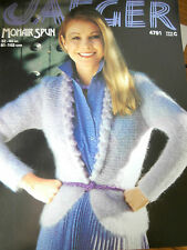 """JAEGER Knitting Pattern 4791 - Ladies Mohair Jacket with Bobble Lapels 32""""-40"""""""