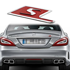 Red S Logo Emblem Badge Metal Sticker for Mercedes Benz S AMG E S CL SL Class