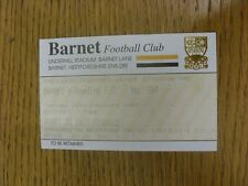 22/02/1994 Ticket: Barnet v Reading.  We are pleased to be able to offer this li