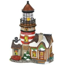 "Department 56 ~ New England Village ""West Haberdine Lighthouse"" ~New ~ Animated"