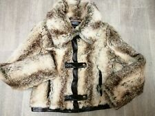 Trendy ladies B Young Byoung faux fur bomber jacket UK 12 PRISTINE CONDITION