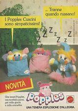X4374 Popples Cuscini - MATTEL - Pubblicità 1988 - Advertising