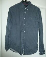 Men's Cactus Brand Blue & White Long Sleeve Button Front Size Small Shirt