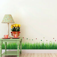 Wall Sticker Mural Decal Grass Ladybug Window Living Room Decor