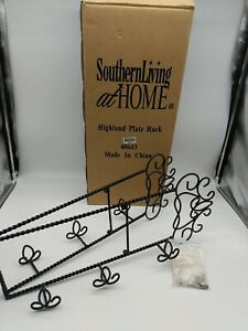 Southern Living at Home Highland Plate Rack #40643 Horizontal Estate Iron