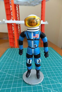 "1969 Mattel Major Matt Mason - Lt. JEFF LONG with SPACE HELMET - ""Man In Space"""