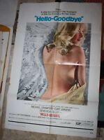 Hello-Goodbye One Sheet Original Movie Poster 1970 GENEVIEVE GILLES