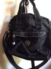 Black Crinkle Nylon Travel Bag By Valigeria Roncato with Pockets In 3 Sections