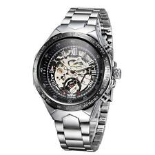 WINNER Semi Automatic Mechanical Dial Hand-Winding Business Watch With Box T8M0