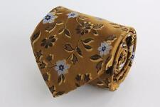 ROBERT TALBOTT Best of Class Silk Tie. Brown w Blue Floral As is Pulls