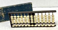 Vintage Wood And Bone Boolean Abacus 13 Rods 78 Beads Made Of Bone RARE