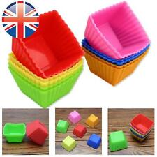 *UK Seller* Silicone Square Cup Cake Muffin Cupcake Cases Baking Cup