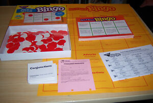 PARTS OF SPEECH BINGO 1995 by TREND  - 3 to 36 Players - Classroom Game T-105